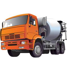 concrete mixer vector image vector image
