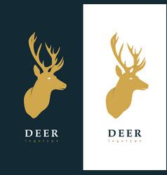 creative logotype stylized deer vector image vector image