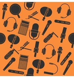 Different microphones types collage vector