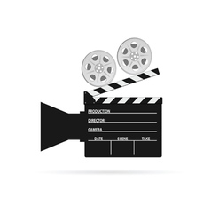 film camera roll black vector image vector image