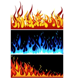 fire backgr set vector image
