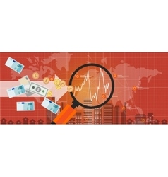 foreign investment global money exchange growth vector image