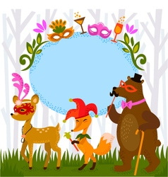 forest costume party vector image vector image