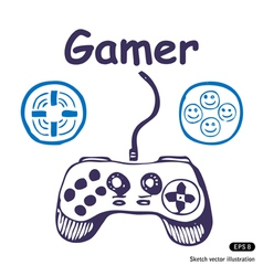 Gamepad and multiply icons vector