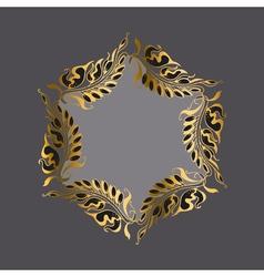 Gold on gray art nouveau style vector
