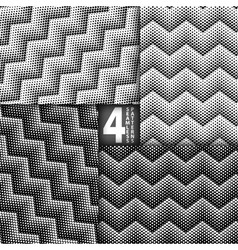 Halftone dots herringbone style black white vector