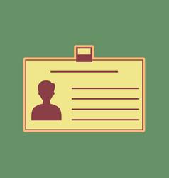 Identification card sign cordovan icon vector