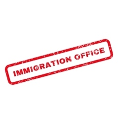 Immigration office text rubber stamp vector