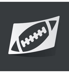 Monochrome rugby sticker vector