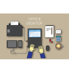 Office desktop vector