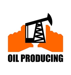 Oil production logo petroleum industry sign logo vector