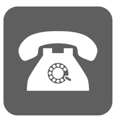 Pulse phone flat squared icon vector