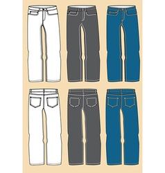Retro jeans design vector