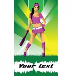 sexy baseball vector image vector image