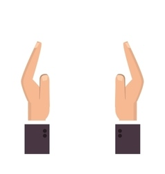 Shelter hands icon vector