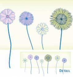spring flower border vector image