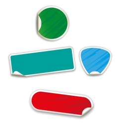 Stickers in the set vector image vector image