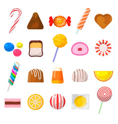sweet candy icon set vector image