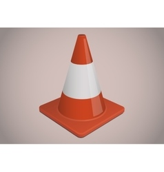 Traffic or safety cone vector image