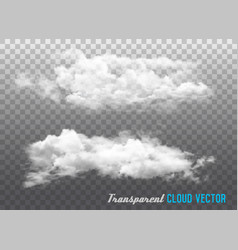 transparent clouds vector image vector image