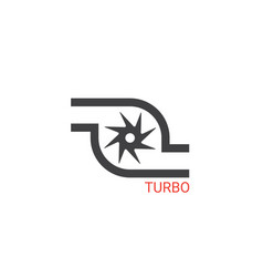 Turbocharger icon vector