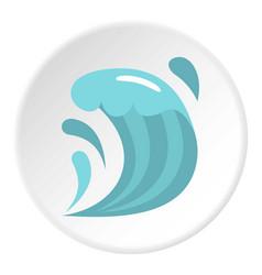 Wave icon circle vector