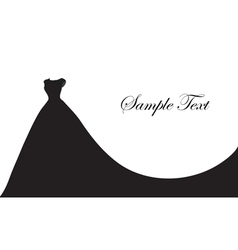 Wedding dress silhouette banner blank template vector