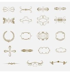 Set of vintage ornaments vector image