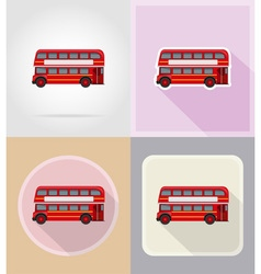 Old retro transport flat icons 16 vector