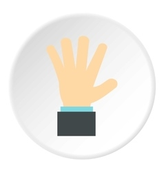 Palm up icon flat style vector