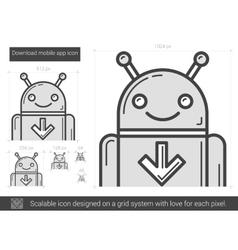 Download mobile app line icon vector