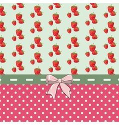 Shabby chic set with strawberries vector