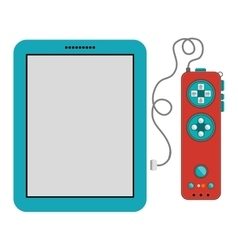 Isolated gamepad and tablet design vector