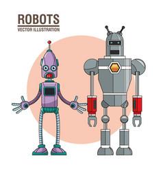 Robots artificial intelligence image vector
