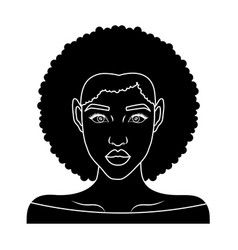 Retro woman icon vector