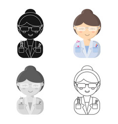 Scientist cartoon icon for web and vector