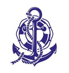 Anchor symbolt isolated on vector