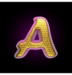 Golden and pink letter a vector