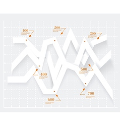 Abstract 3D digital Infographic Origami style vector image