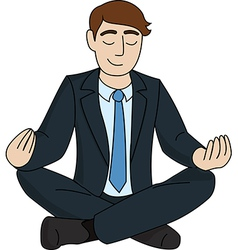 Businessman is meditating vector