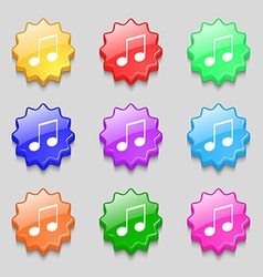 Musical note music ringtone icon sign symbol on vector