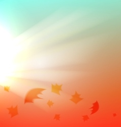 The autumn abstract background vector