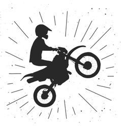Enduro bike hand drawn vector image