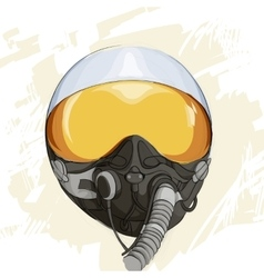 Military flight helmet vector image