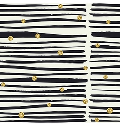 Seamless pattern Black hand drawn bold lines and vector image