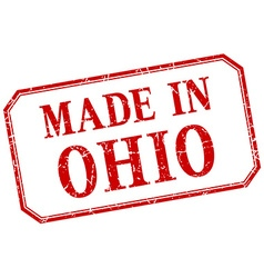 Ohio - made in red vintage isolated label vector