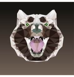 Geometric negative head of a dog vector