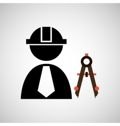 Civil engineering icon vector