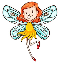 A simple sketch of a young fairy vector image vector image