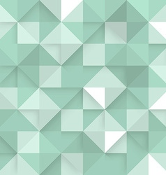 Abstract square green background vector image vector image
